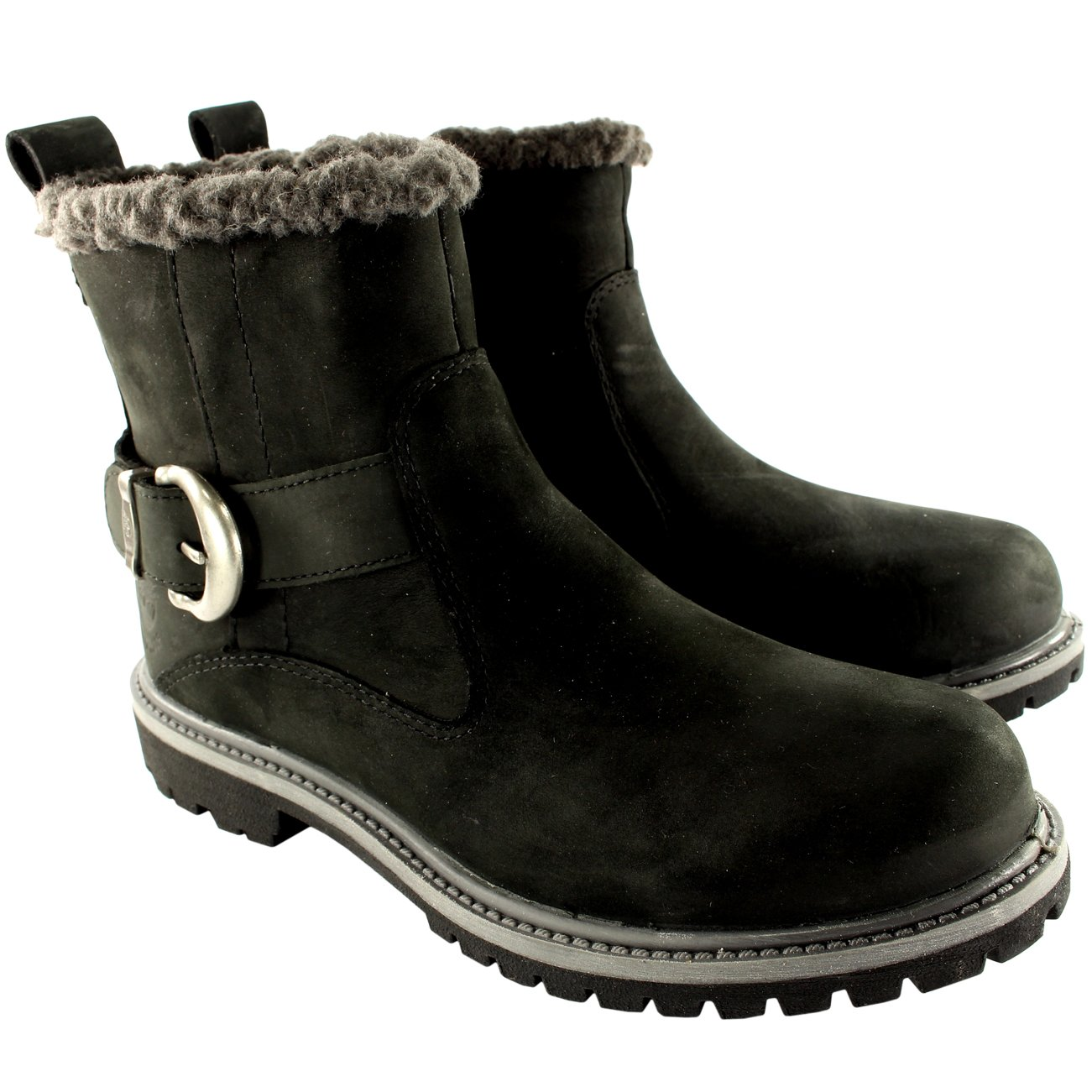 8d7737604fd0 Timberland Womens Earthkeepers Nellie Biker Fur Lined Mid Calf Boots UK  3-8  Amazon.co.uk  Shoes   Bags