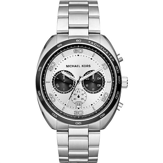 50d6ca59d5255 Michael Kors Dane Chronograph Quartz Silver Stainless Steel Men s Watch  MK8613  Amazon.co.uk  Watches