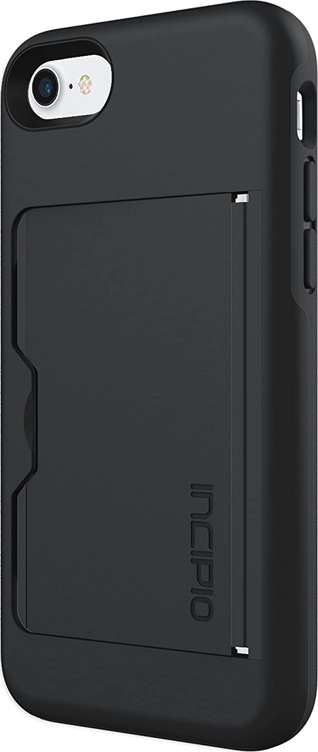 Incipio Apple iPhone 7/8 Stowaway Advanced Credit Card Hard Shell Case with Silicone Core - Black/Black