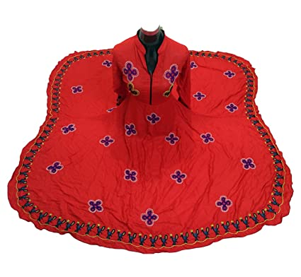 Komal Collection s Traditional Women s Red Gown With Hand made Embroidery  work (KCG002 Stitched Free ... 44e6892ade
