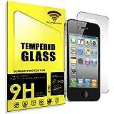 ACTECOM® Protector DE Pantalla para iPhone 4 4S 4G Cristal Vidrio Templado