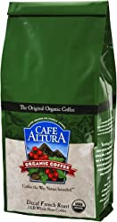 Cafe Altura Whole Bean Organic Coffee, French Roast Decaf, 2 Pound