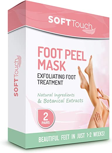 Foot Peel Mask – 2 Pack of Peeling Booties – Natural Foot Care Exfoliating Treatment Repairs Cracked Heels, Calluses & Removes Dead, Dry Skin for…