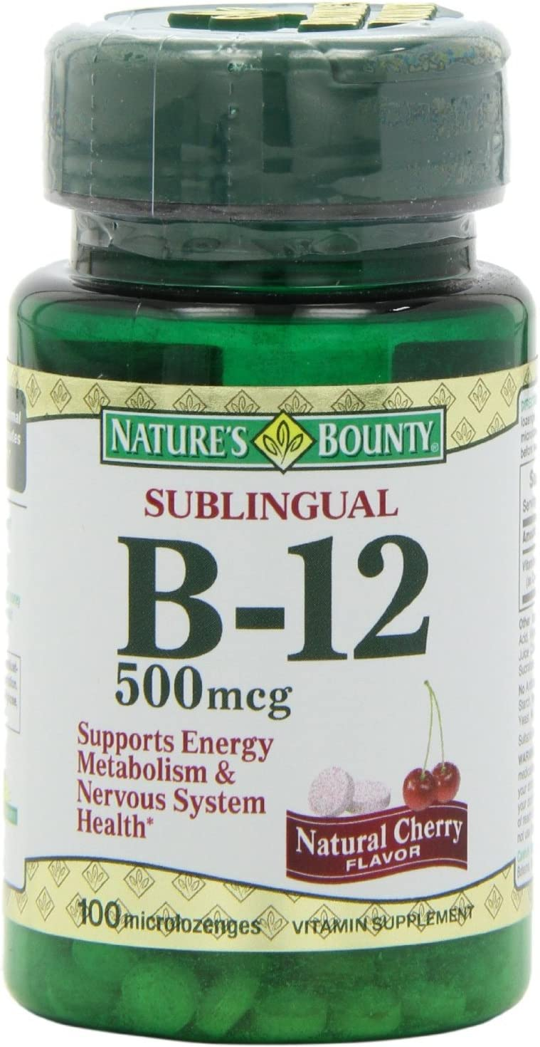 Nature's Bounty Vitamin B-12 500 mcg, 100 ea(Pack of 3)
