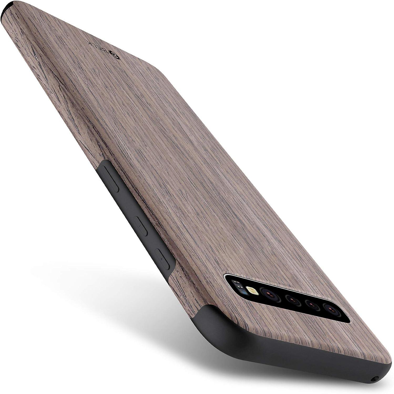 B BELK Galaxy S10 Plus Case, [Slim to Beat] Soft Wood Air Cushion Premium Rubber Bumper [Thin Matte] Flexible TPU Back Cover, Shock Resistant Wooden Shell for Samsung Galaxy S10 Plus - Walnut