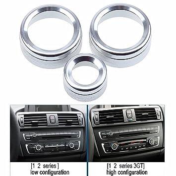eaglerich aluminio coche aire acondicionado interruptor de control pomos Anillo embellecedor para decoración car-styling