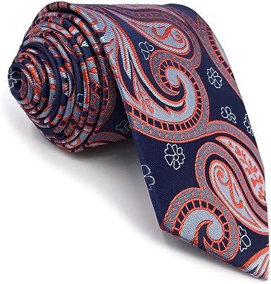 shlax&wing único La Moda Hombre Seda Corbatas Para Azul ...