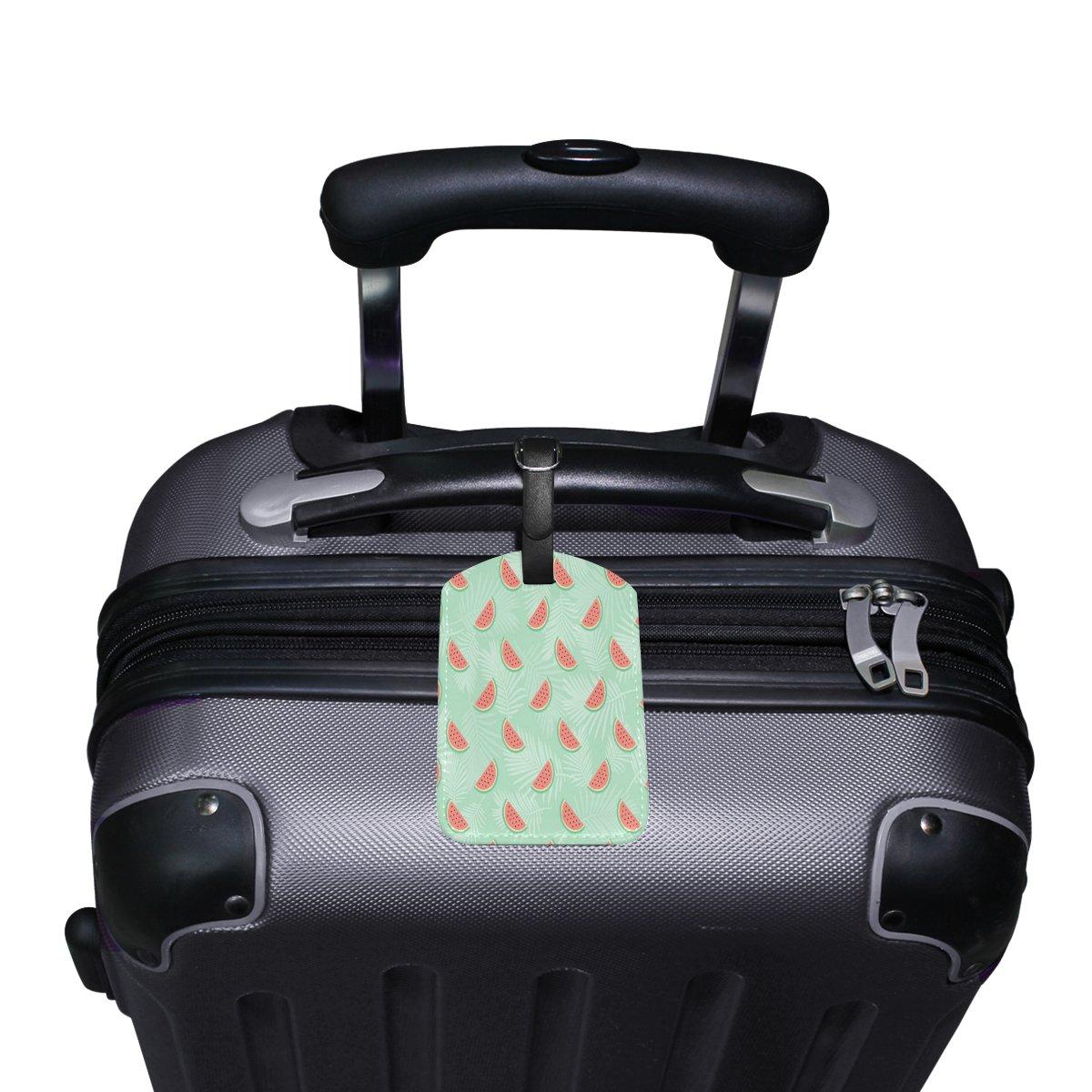 1Pcs Saobao Travel Luggage Tag Watermelon Pattern PU Leather Baggage Suitcase Travel ID Bag Tag