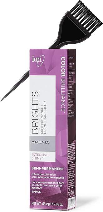 ION Hair Color DyeION Color Brilliance BRIGHTS tinte semipermanente de color crema, tamaño: 2.05 oz (con elegante cepillo de tinte) color crema para ...