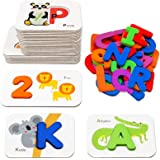 Number and Alphabet Flash Cards for Toddlers 3-5 Years, ABC Montessori Educational Toys Gifts for 3 4 5 year old Preschool Le