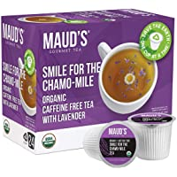 Maud's Organic Chamomile Lavender Tea (Smile For The Chamo-mile) 24ct. Solar Energy Produced Recyclable Single Serve…