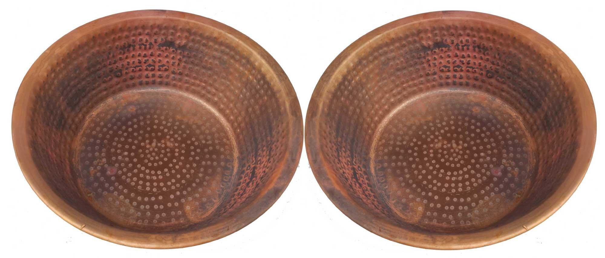 Egypt gift shops Pair Fire Burnt Copper Pedicure Spa Massage Foot Bath Soak Wash Spa Styling Salon Massage Bowls