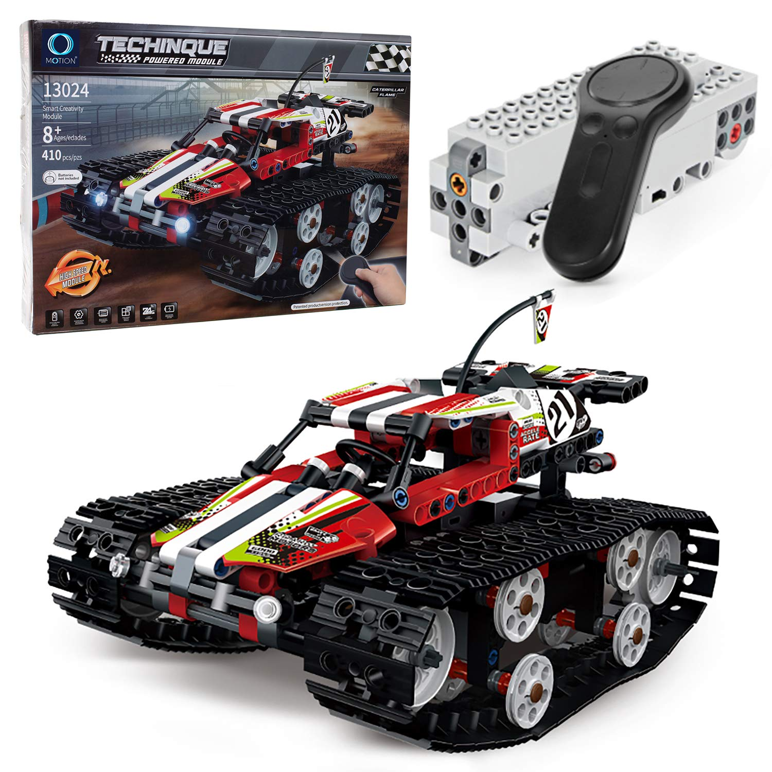 MOTION Kids Toys Educational Remote Control Building Bricks kit ( High Speed Car Red)