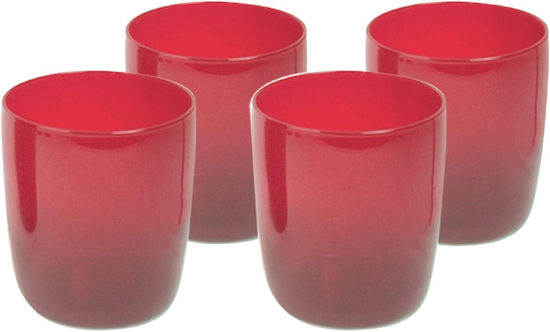 Set of 4 Artland 22 oz Midnight Black Stemless Round Wine Glasses
