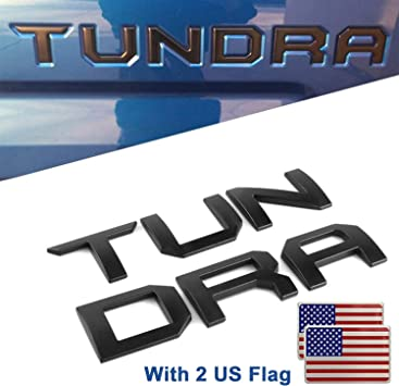 Pro USA Flag EyeCatcher Pro Series Tailgate Letter Inserts for 2014-2019 Toyota Tundra