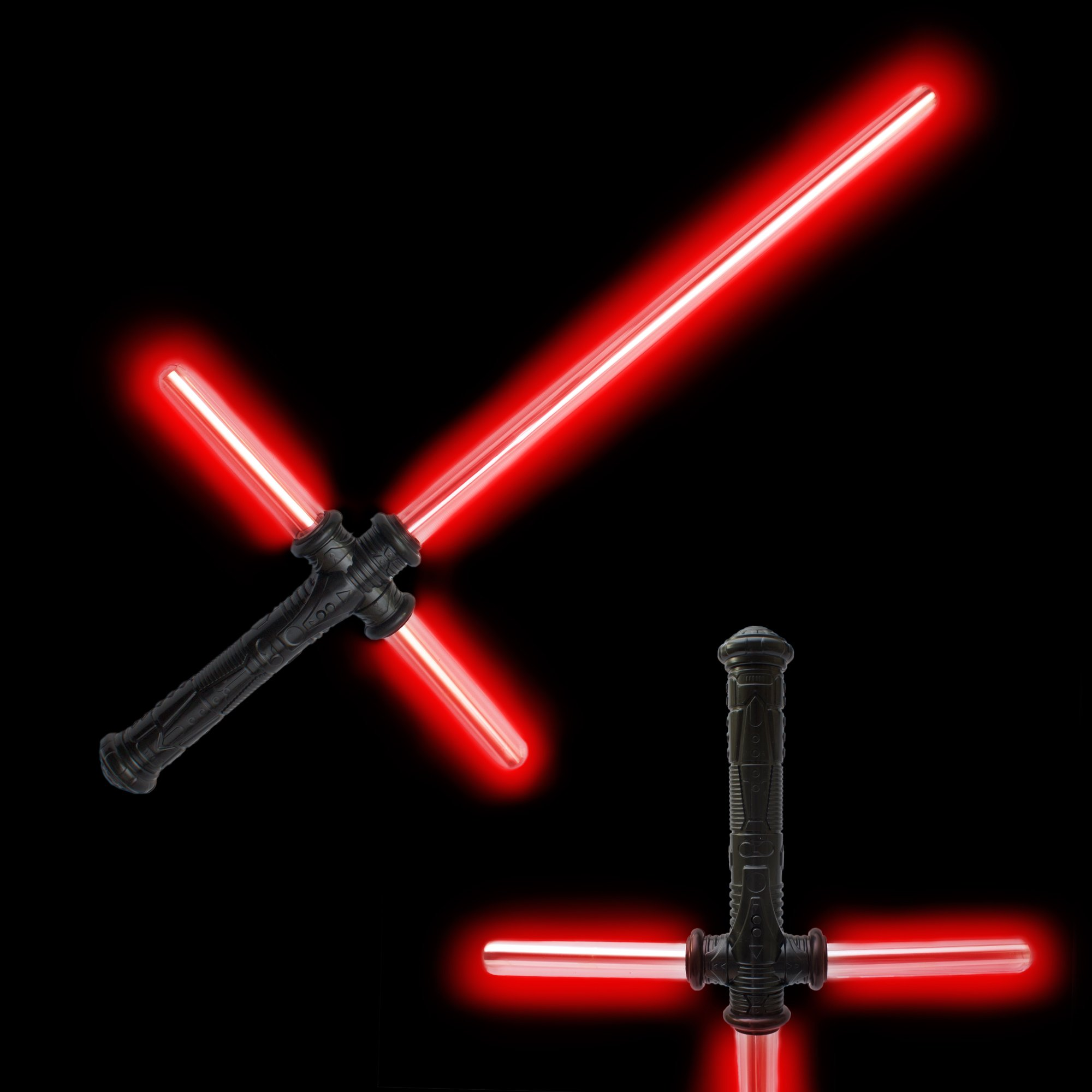 Fun Central AU206 27 Inch Red LED Tri-Saber with Sound, LED Light Saber Sword Toy, LED Light Saber Sword for Kids