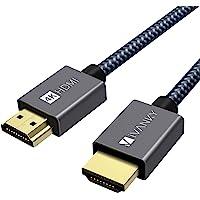 IVANKY Cable HDMI de Alta Velocidad (6.6ft/2M, 4K@60Hz, HDR, HDMI 2,0, 30AWG,Nylon Trenzado) Conector Bañado en Oro…