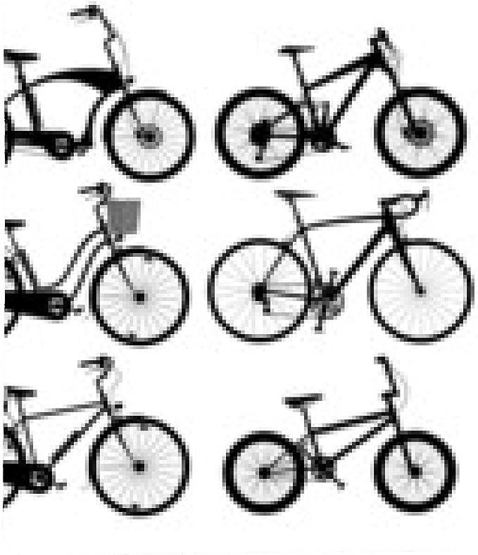 alfombrilla de ratón Siluetas de bicicletas: Amazon.es: Electrónica