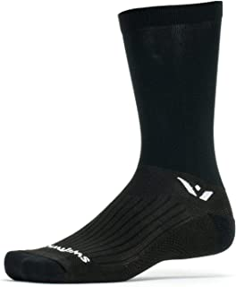 product image for Swiftwick- PERFORMANCE SEVEN Cycling Socks, Wicking, Lightweight Crew