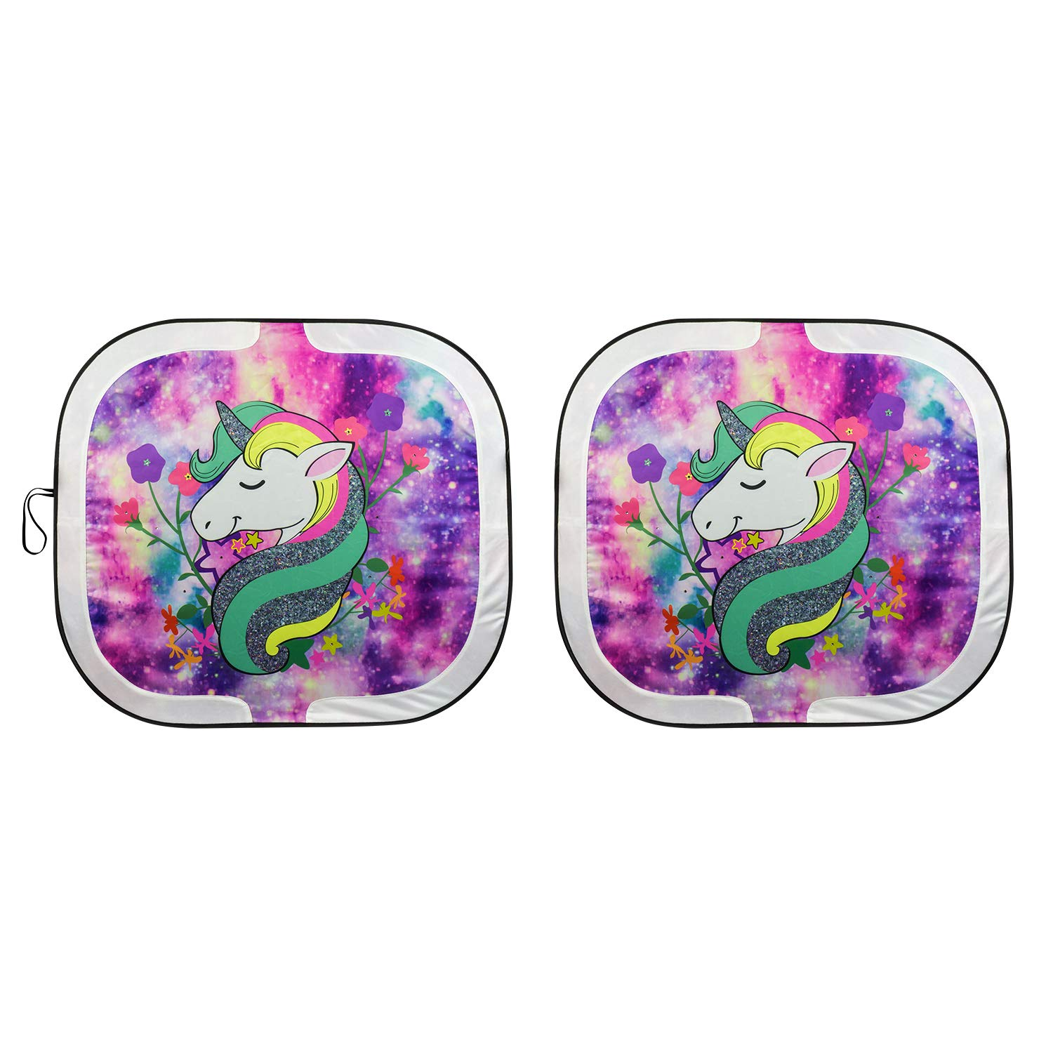 Special Edition Swarovski Crystal Embellished Collapsible Pilot Automotive SWR-0226 Unicorn Sunshade