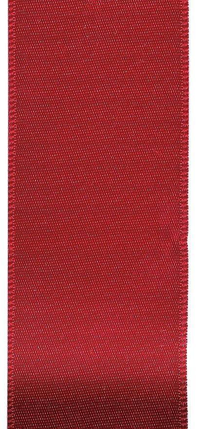 Amazon Offray Berwick 225 Single Face Satin Ribbon Scarlet