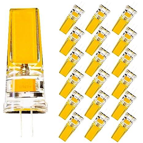 4W Bombilla LED de bajo consumo,Silicona Cristalina Lámpara, Blanco Cálido 3000K,Ángulo