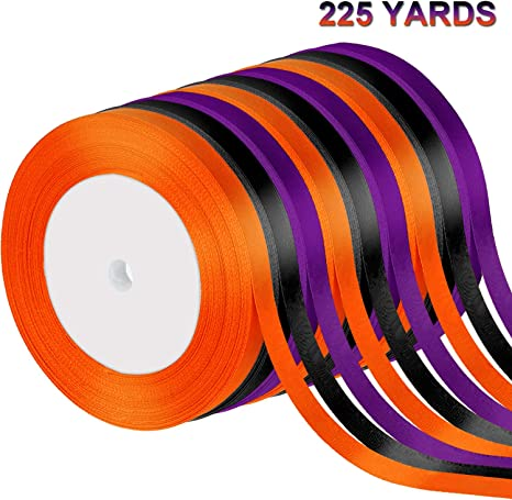 ORANGE Grosgrain Ribbon Roll ASSORTED WIDTHS Sewing and Decorating