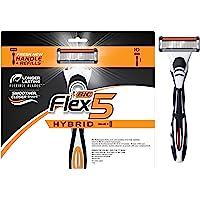 BIC Flex 5 Titanium Men's Disposable Razor, Five Blade, Pack of 10 Razors, Flexible Blades for an Ultra-Close Shave