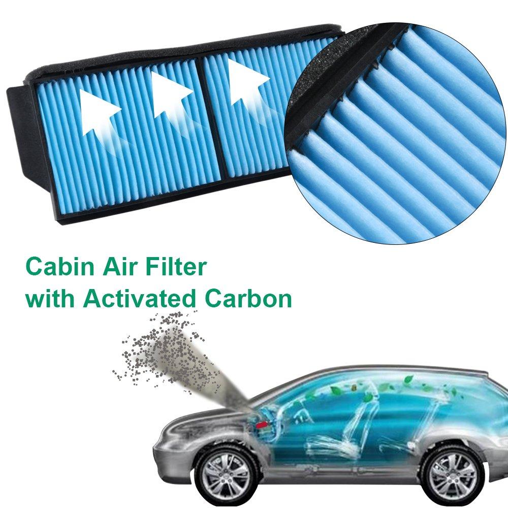 Premium Cabin Air Filter CF10218 OEM Replace BP4K-61-J6X MIKKUPPA KT069 fits 2004-2009 Mazda 3//2006-2017 Mazda 5