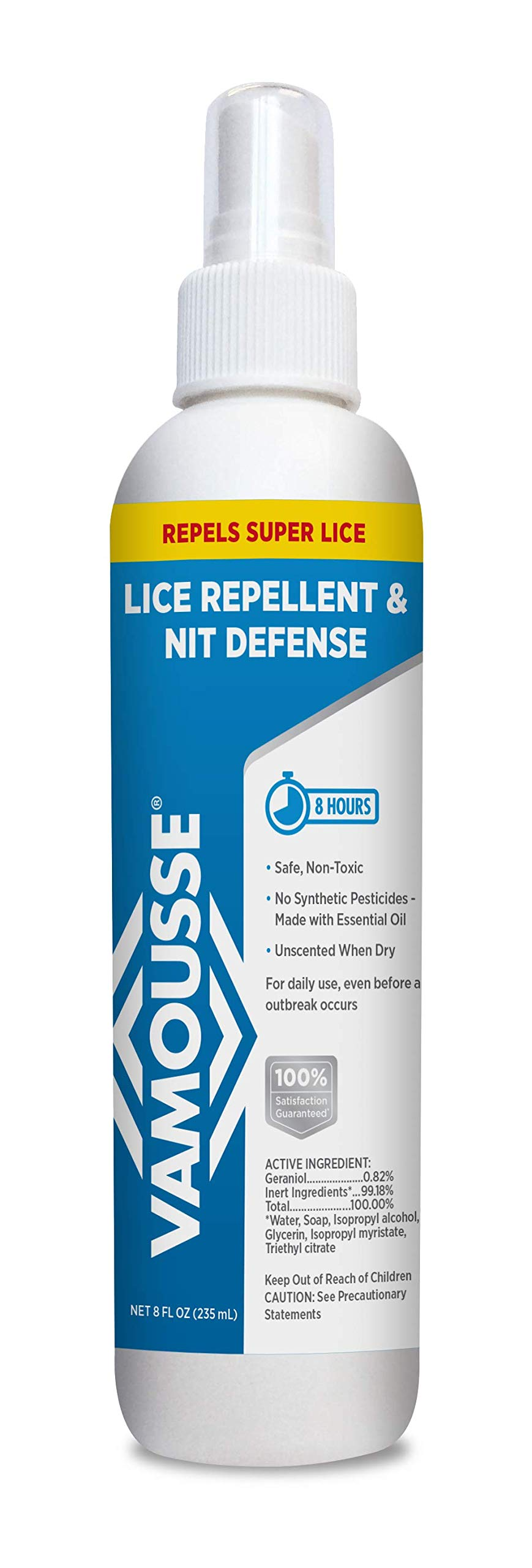Vamousse Lice Repellent and Nit Defense, 8 Fluid Ounce by Vamousse