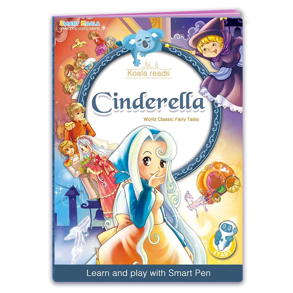 Talking Pen + 3 Fairy Tales Bundle (Pinocchio, Cinderella, Red Hood). The most Entertaining Books for learning Reading and Spelling Skills. English and foreign Languages (Spanish, German for free) by Smart Koala (Image #3)