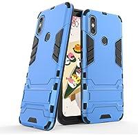 Funda para Xiaomi Mi 6X / Mi A2 (5,99 Pulgadas) 2 en 1 Híbrida Rugged Armor Case Choque Absorción Protección Dual Layer Bumper Carcasa con Pata de Cabra