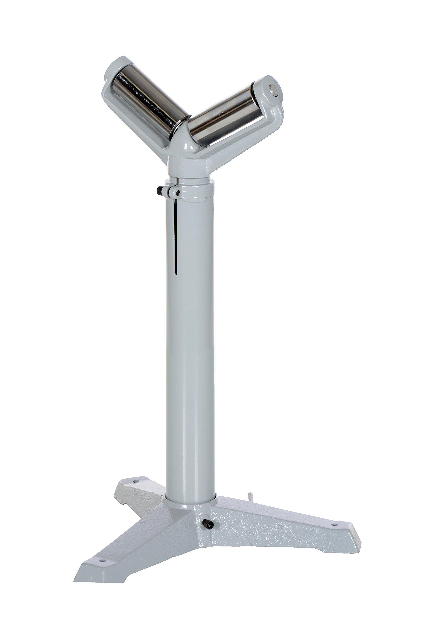 Vestil STAND-V-HP 5'' V Deluxe Roller Stand, 27'' - 42'' Height, 1760 lbs Capacity by Vestil