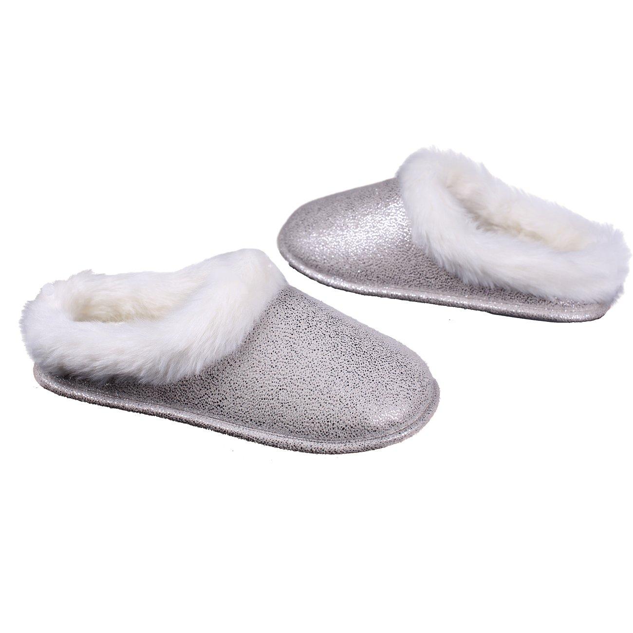 WOMEN 100/% MERINO SHEEP WOOL BOOT STYLE SLIPPERS,NON-SLIP SOLE,WHITE//GREY,UK 3-7