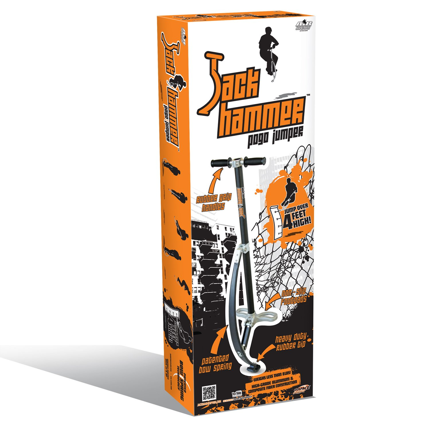 Jumparoo JACK HAMMER Extreme Pogo Jumper by Air Kicks, SMALL 120-154 Lbs. (55-70 Kgs.)