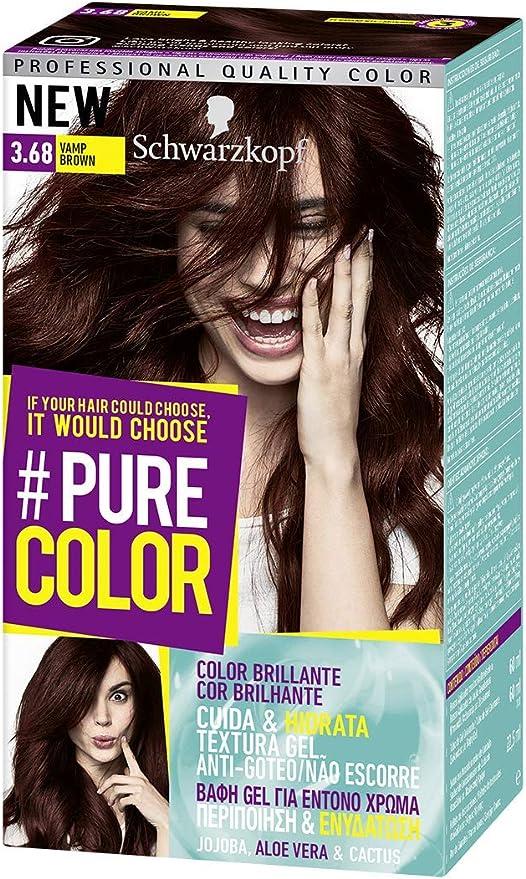 Pure Color - Tono 3.68 Vamp Brown - 2 uds - Coloración Permamente - Schwarzkopf