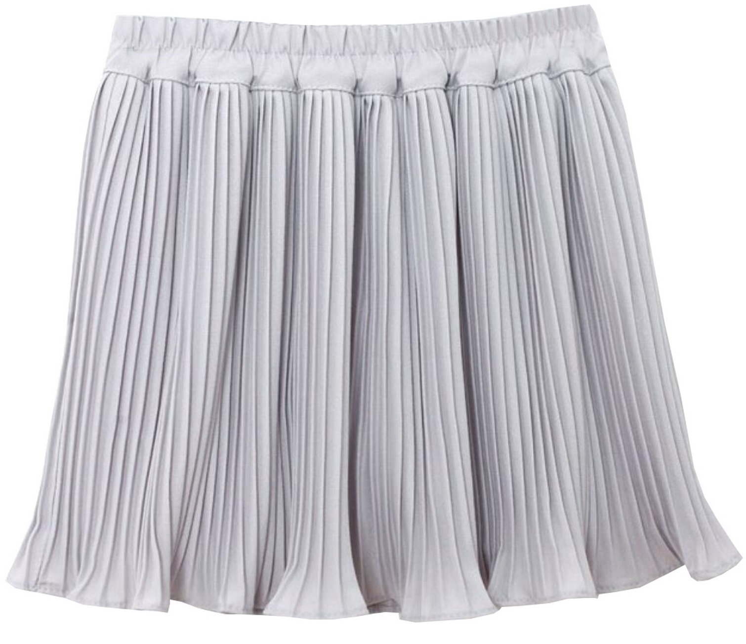 Foucome Maternity Pregnancy Pull on Style High Wasit Pleated Pregnancy Mini Skirts for Women Gray