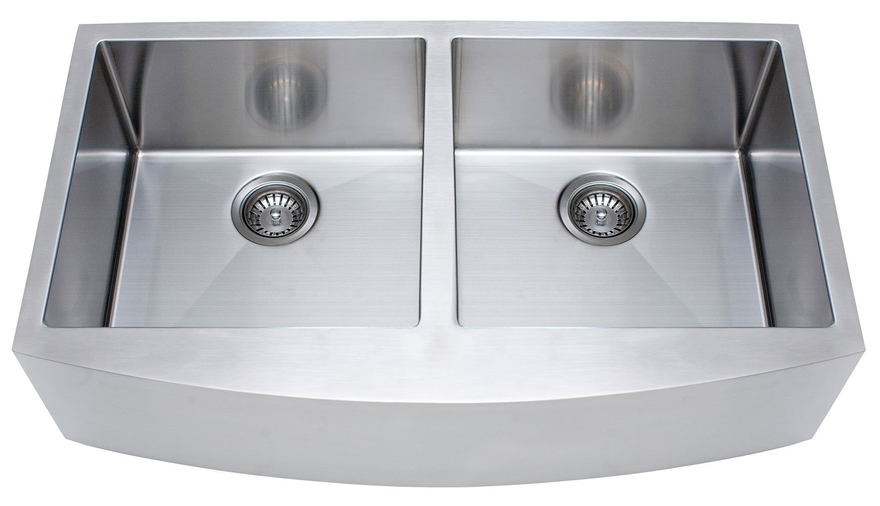 Franke Kinetic 33'' Apron Front Farm House Double Bowl Kitchen Sink, Stainless Steel