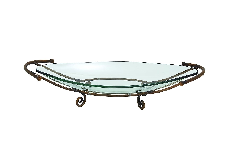 Deco 79 68558 Glass Bowl Metal Stand