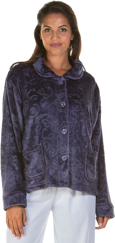 Donne Zip Up Soft Feel pile in rilievo vestaglia con zip Robe 6623