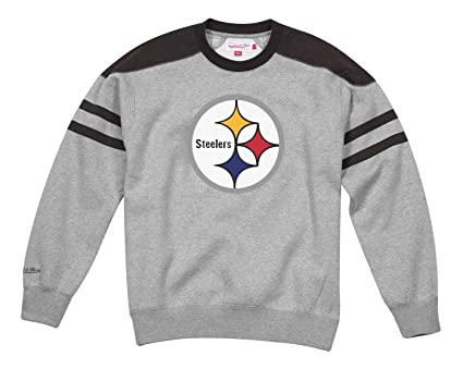91cc0eca365 Image Unavailable. Image not available for. Color: Mitchell & Ness  Pittsburgh Steelers NFL Post Season Run Men's Crew Sweatshirt