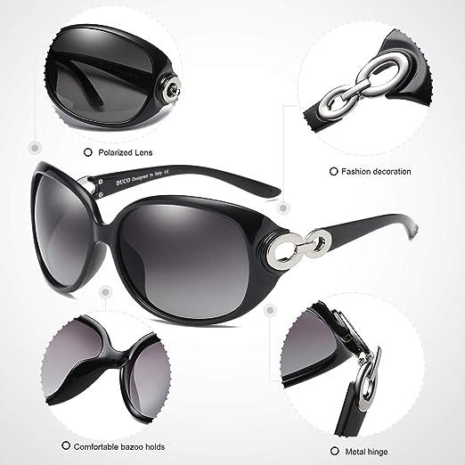 Amazon.com: Duco Shades 1220 lentes de sol clásicas ...