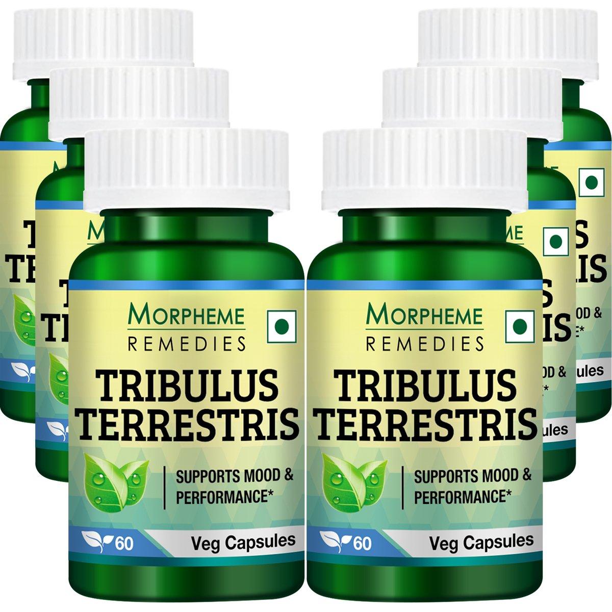 Morpheme Tribulus Terrestris Capsules - 500mg Extract - 60 Veg Capsules - 6 Combo Pack