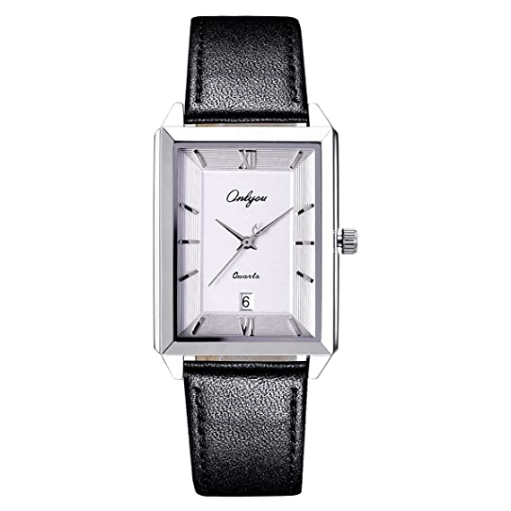 Amazon.com: ONLYOU Newest Men Watch Lover Watches Square Dress Ladies Watches Men Clock Wholesales: Watches