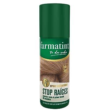 Farmatint Spray instantáneo capilar Stop Raíces, color rubio claro - 75 ml