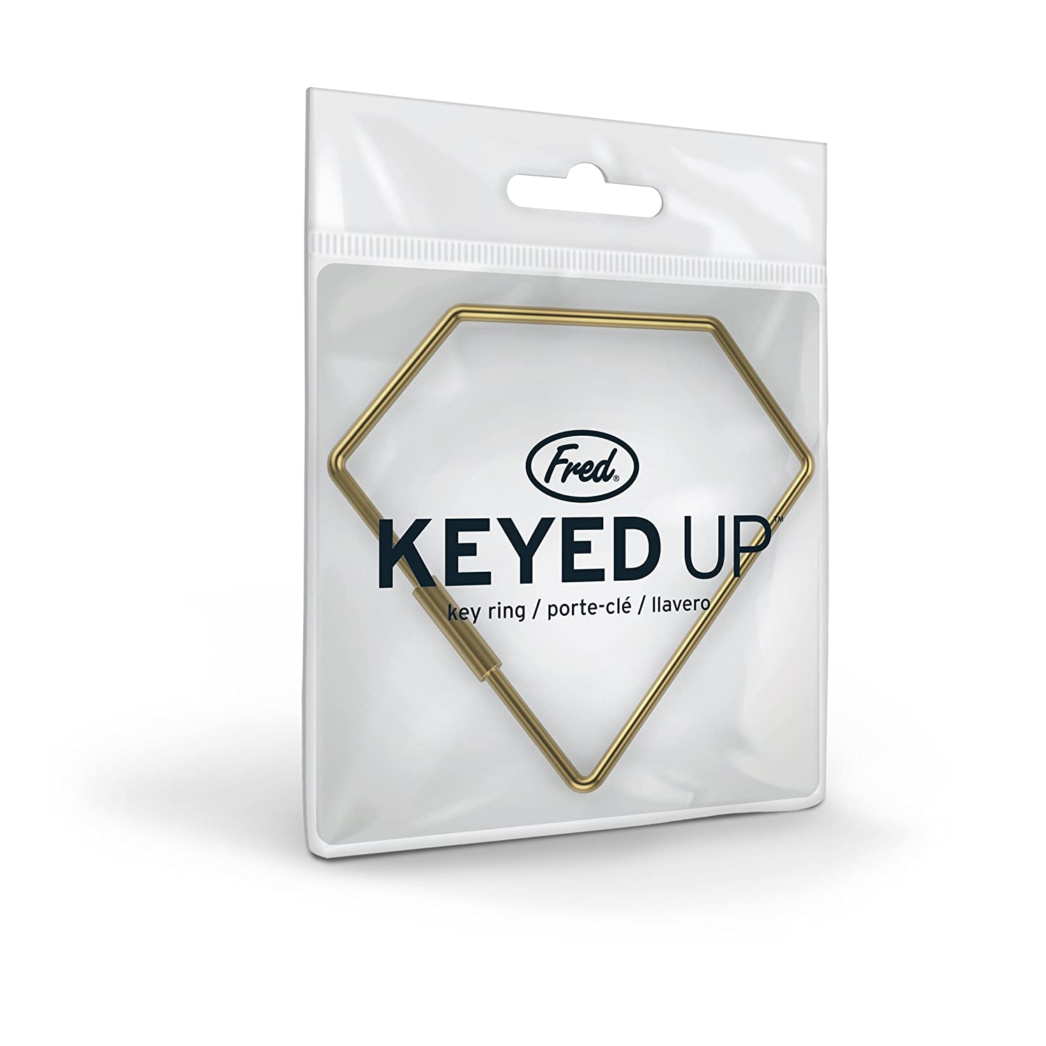 Fred KEYED UP Key Ring, Diamond