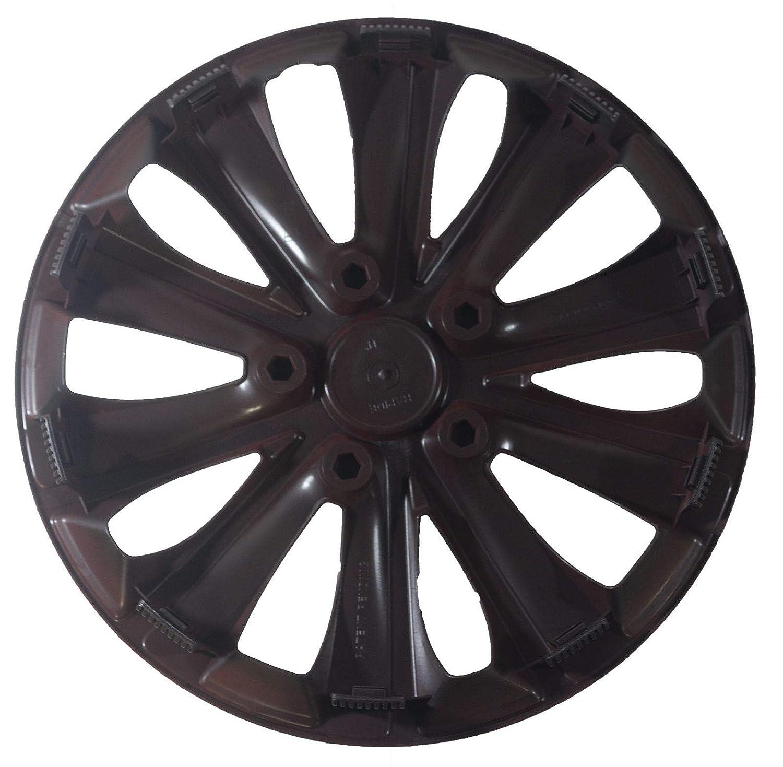 UKB4C 4 x Back & Red Alloy Look Wheel Trims Hub Caps 16..