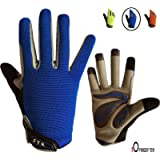 Cycling Gloves Kids Boys Girls Youth Full Finger Pair Bike Riding, Children Toddler Touch Screen Mountain Road Bicycle…