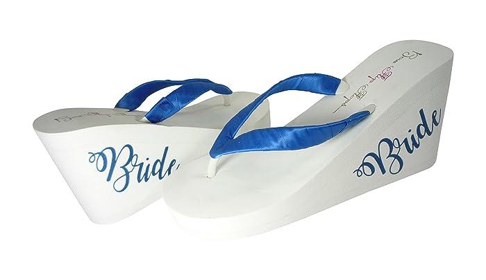 5313580523b6b Amazon.com: Design your Own Wedding Colors Bride Flip Flop Sandals ...