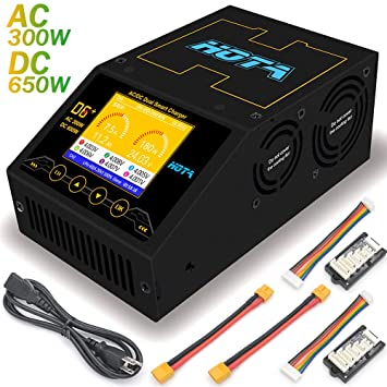 HOTA D6 + AC 300W DC 2X325W 2X15A Cargador de batería Lipo ...